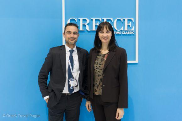GTP's Managing Editor Nikos Krinis and Tourism Minister Elena Kountoura.