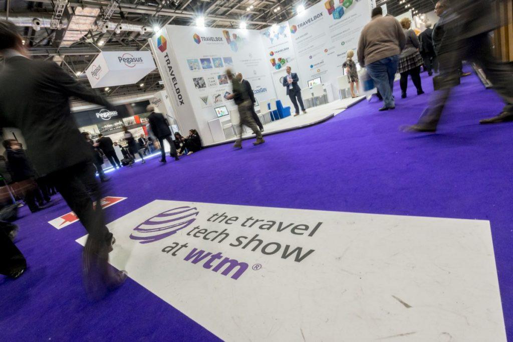 World Travel Market 2016, ExCeL London. Travel Tech Show Floor.