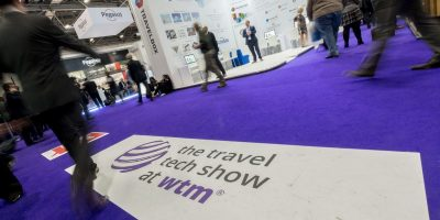 World Travel Market 2016, ExCeL London. Travel Tech Show Floor.