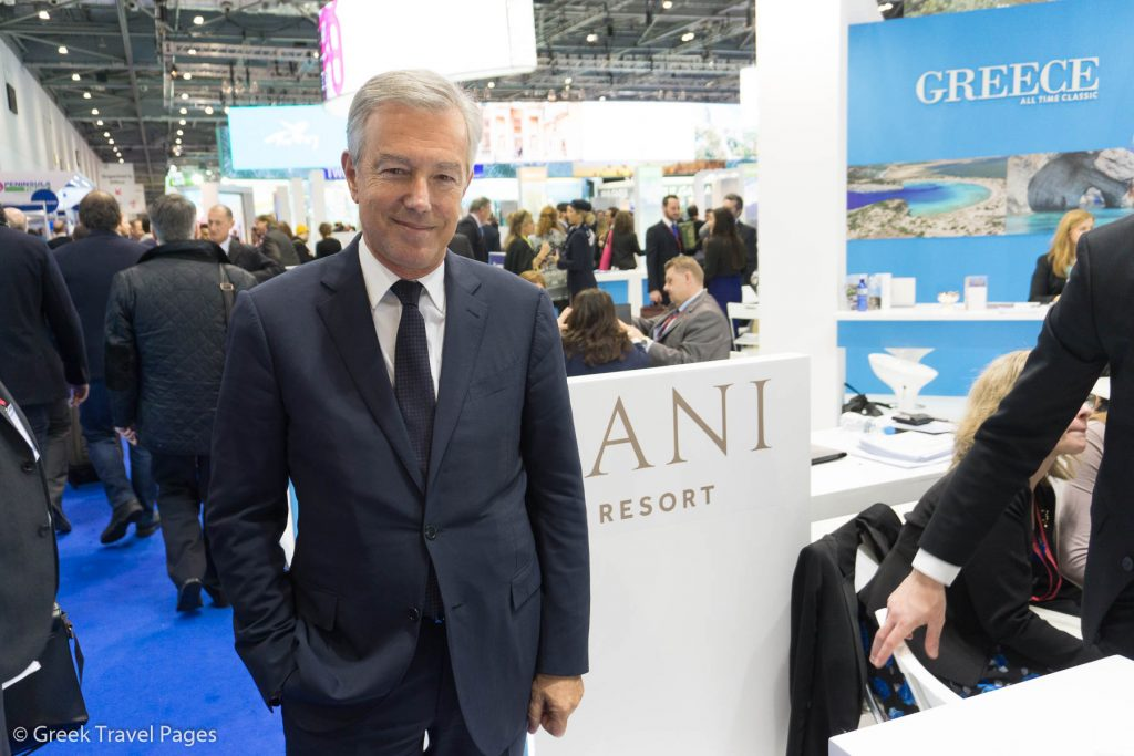 Greek Tourism Confederation President Andreas Andreadis at WTM London 2016.