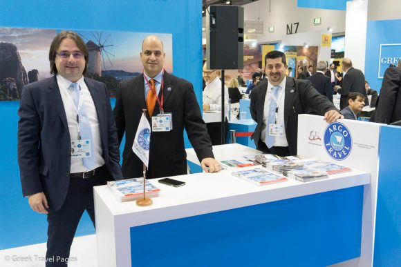 Stratis Voursoukis, Group Director of Sales & Marketing; Yiannis Polydorou, Argo UK Managing Director; and Angelos Samolis, Sales Manager.