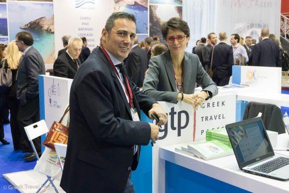 GTP's publisher, Maria Theofanopoulou with TravelLife's auditor, Sotiris Milonas.