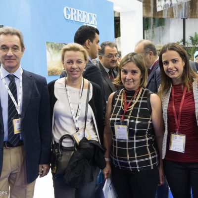 George and Lena Karamalis of Spetses Hotel; Marilena Stathopoulou, Manager Tourhotel; and Sofia Kalfopoulou, General Manager at Acropolis Hill Hotel.