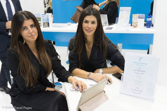 Kalia Konstantinidou, Vice President, Vedema, A Luxury Collection Resort (right).