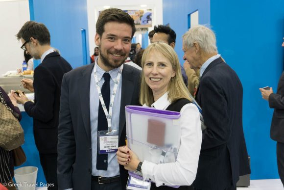 GNTO's Panos Papadopoulos and LOTUS Account Director Frances Tuke.