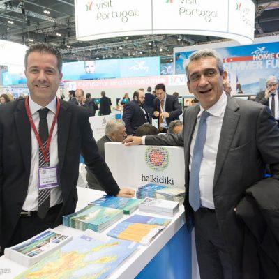 Halkidiki Tourism Organization President Grigoris Tasios and George Hadjimarkos Governor of South Aegean Region.
