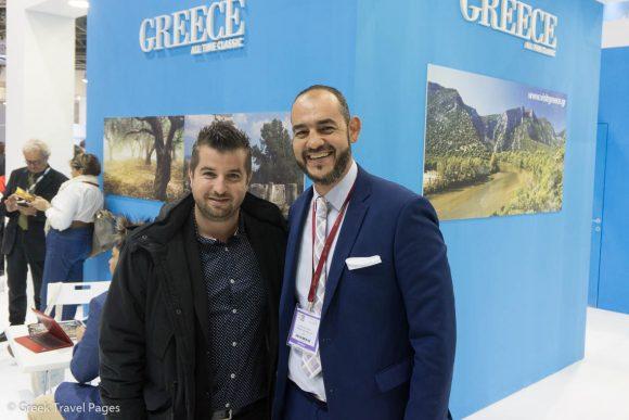 Caldera Collection Hotels Managing Director Kyritsis Panos and GTP's Sales & Advertising Manager, Charis Brousalian.