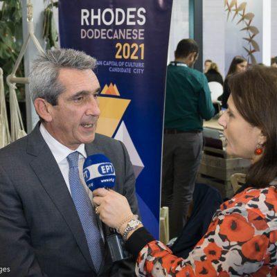 WTM London George Hadjimarkos Governor of South Aegean Region