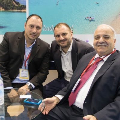 Vice Governor of Tourism and Promotion for the Ionian Islands Region, Spiros Galiatsatos (right).