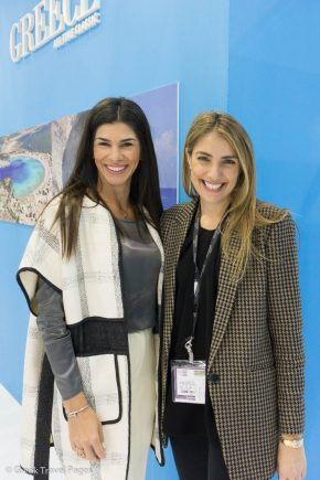 Kalia Konstantinidou, Vice President, Vedema, A Luxury Collection Resort; and Agapi Sbokou, Marketing & Sales Manager Sbokos Hotel Group.