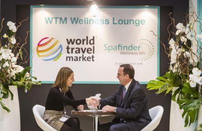 World Travel Market 2015, ExCeL, London: Wellness Entrance.
