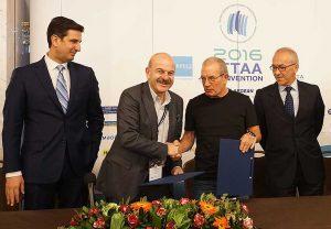 fedHATTA President Lysandros Tsilidis and ITTAA Chairman Kobi Karni.