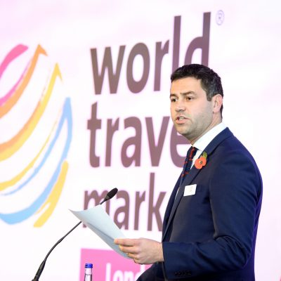 World Travel Market, Senior Director, Simon Press.