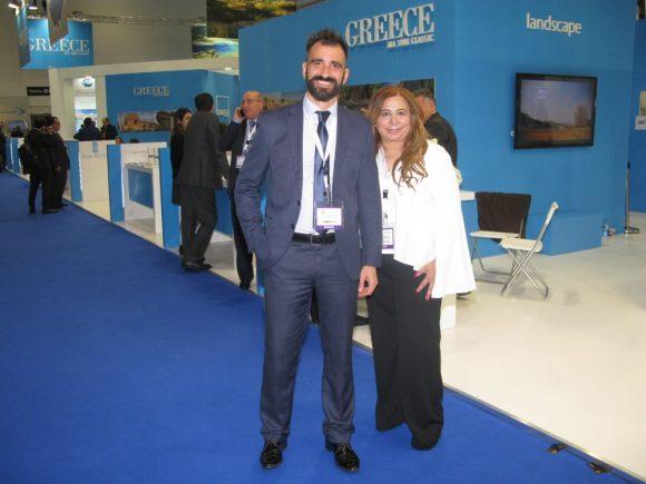 BookyourWeddingDay.com's Nikos Delikostopoulos, Regional Manager Greece; and Maria Evripidis, Founder & CEO.