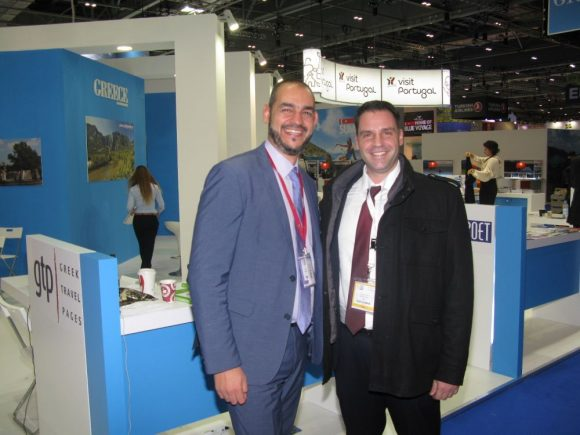 GTP's Sales & Advertising Manager, Charis Brousalian and Spyrou Hotels' Deputy Manager-Sales & Marketing, John Grigoras.