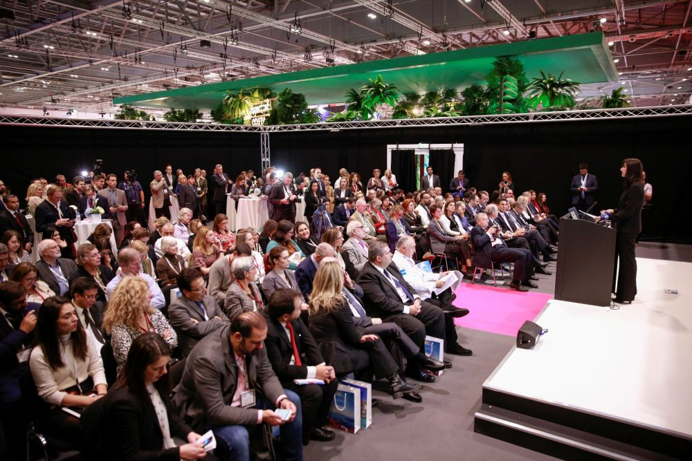 Tourism Minister Elena Kountoura spoke to a packed press conference on the opening day of WTM London 2016.