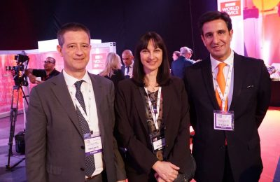 George Tziallas, Secretary General for Tourism policy and Development; Elena Kountoura, Tourism Minister, Dimitris Tryfonopoulos, President of the Greek National Tourism Organization during the UNWTO & WTM Ministerial Networking Reception.