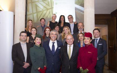 Alitalia Greece Sales team with Italian Ambassador in Greece, Efisio Luigi Marras.