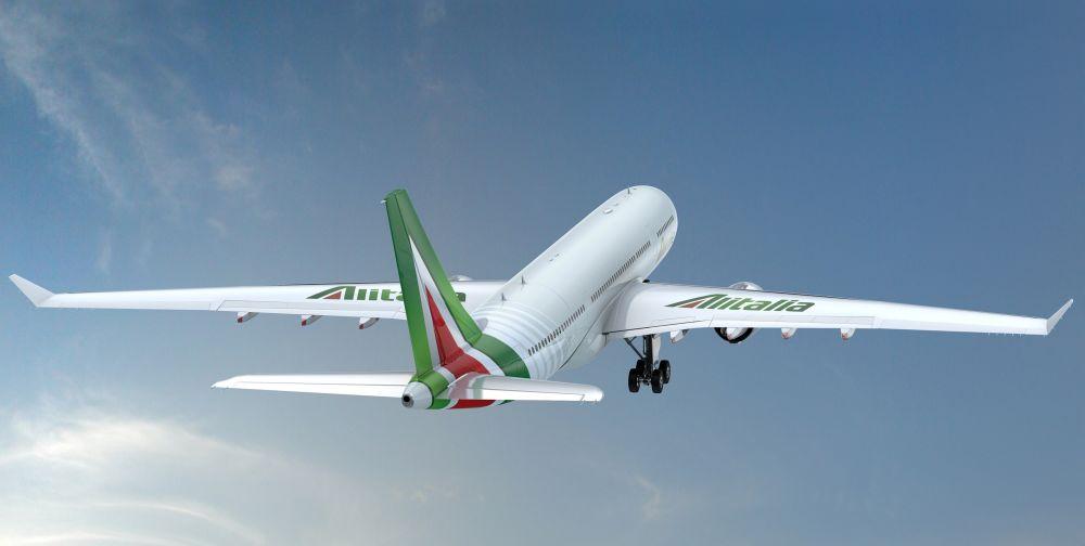 Alitalia aircraft, new-livery.