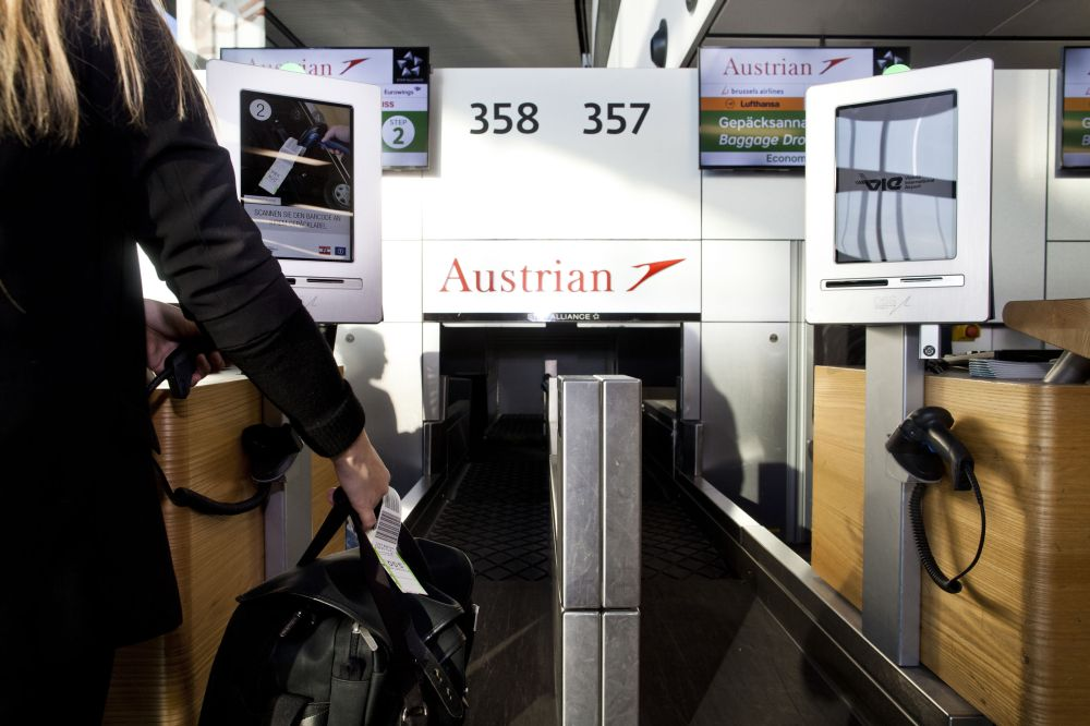 Austrian Airlines Self Check-in, Wien 05.12.2016 Foto: Michèle Pauty
