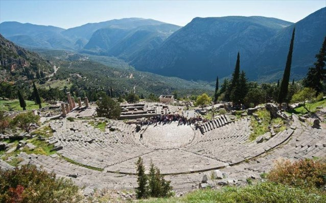 Ancient theatre of Delphi.