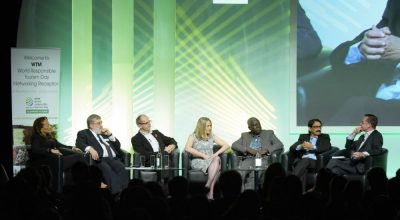 World Travel Market 2016, ExCeL, London – World Responsible Tourism Day. Round table Discussion hosted by Aaron Heslehurst, with Auliana Poon, Tourism Intelligence International; Harold Goodwin, WTM Responsible Tourism Advisor; Justin Francis, responsibletravel.com; Jane Ashton, TUI; Adama Bah, Institute of travel; Tourism of Gambia. Dr Venu, Tourism Kerala.