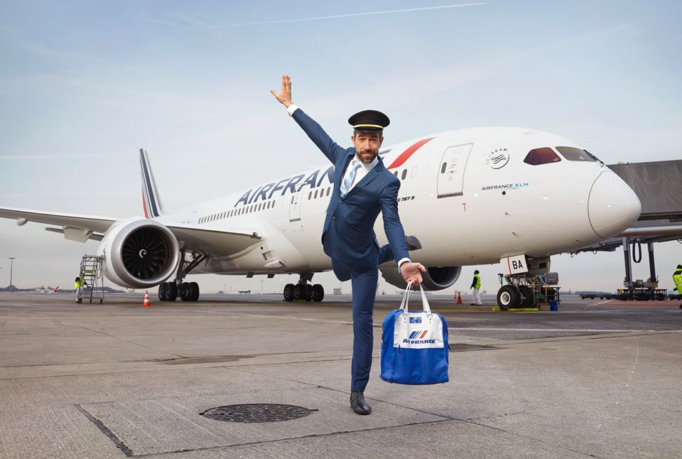air france celebrates first boeing 787 flights with. Black Bedroom Furniture Sets. Home Design Ideas