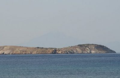 Pasas or Panagia islet in the Oinousses complex in the Aegean Sea.