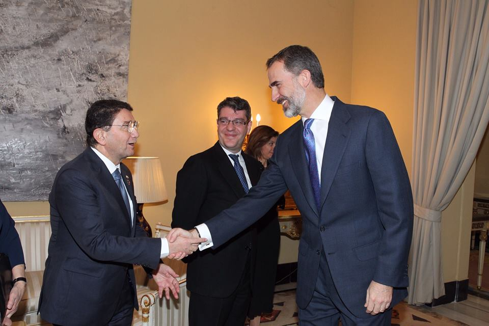 UNWTO Secretary-General Taleb Rifai and King Felipe VI of Spain.