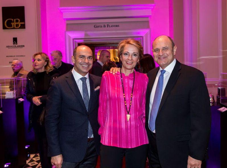 The Hotel Grande Bretagne's Grigoris Liasidis, Christina Papathanasiou and Tim Ananiadis.