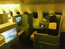 Alitalia Boeing 777 Business Class.
