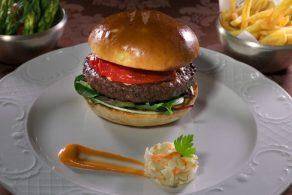 Black Angus Burger.