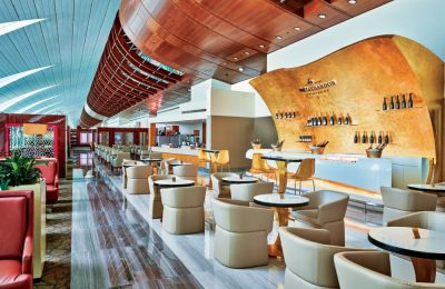 Emirates champagne lounge.
