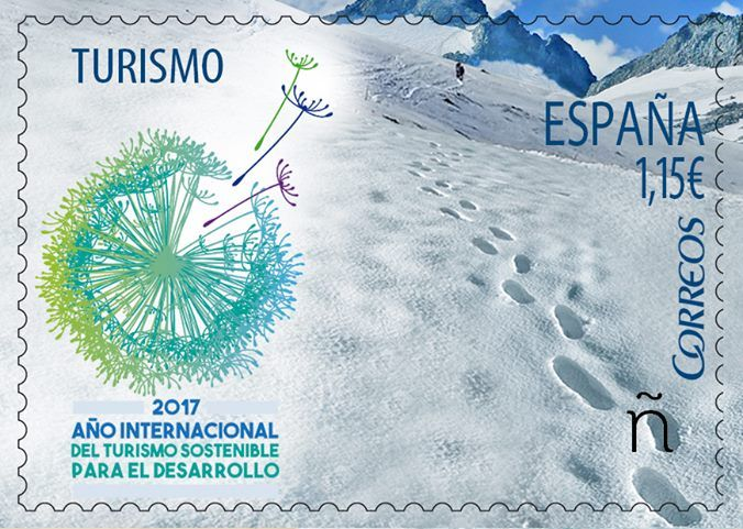 Two New Spanish Stamps Commemorating The International Year Of Sustainable Tourism For Development 2017 IY2017 Were Presented On Tuesday During An Event