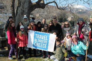 Archive photo of Travel Bloggers Greece on a fam trip to Pelion.