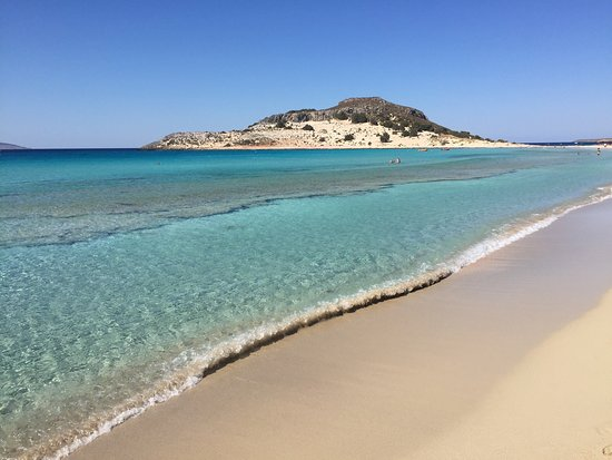 """""""White sand that stretches and stretches"""" - TripAdvisor Traveler review for Simos Beach in Elafonisos."""