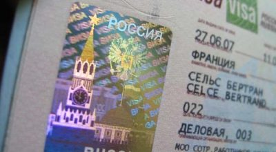 A visa to Russia.