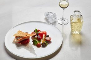 "A dish from the Poseidonion's flagship ""On The Verandah"" restaurant."