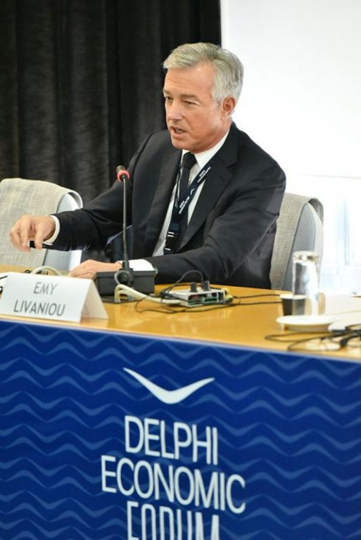 SETE President Andreas Andreadis speaking at the 2nd Delphi Economic Forum in Delphi, Greece.