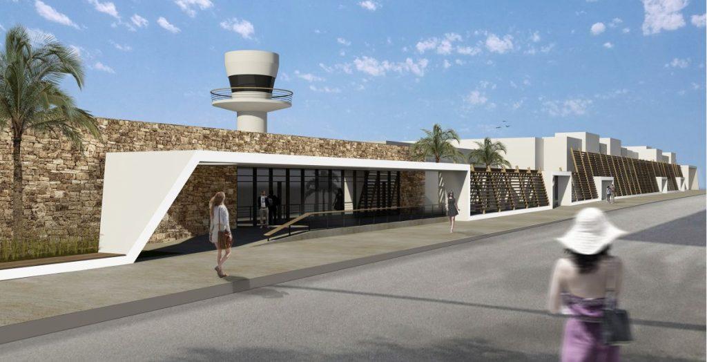 Impression of Mykonos airport.