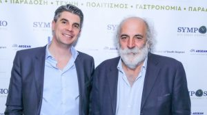 Alexandros Angelopoulos, Inspirer of Sympossio & CEO of Aldemar Resorts Group, with Giorgos Pittas, Greek Gastronomy Guide founder and the man behind the Greek Breakfast initiative.