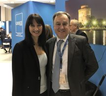 Tourism Minister Elena Kountoura with Thessaloniki Hotels Association President Aristotelis Thomopoulos.