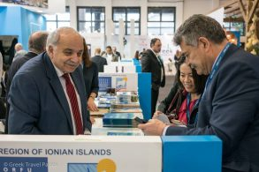 Spyros Galiatsatos, Vice Governor of Tourism & Promotion for the Ionian Islands Region at ITB Berlin.