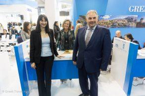 Crete Tourism Commissioner Michalis Vamiedakis with Tourism Minister Elena Kountoura at ITB Berlin 2017.