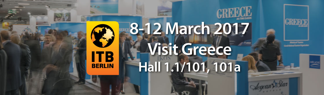 Visit Greece in ITB 2017 Hall 1.1/101, 101a