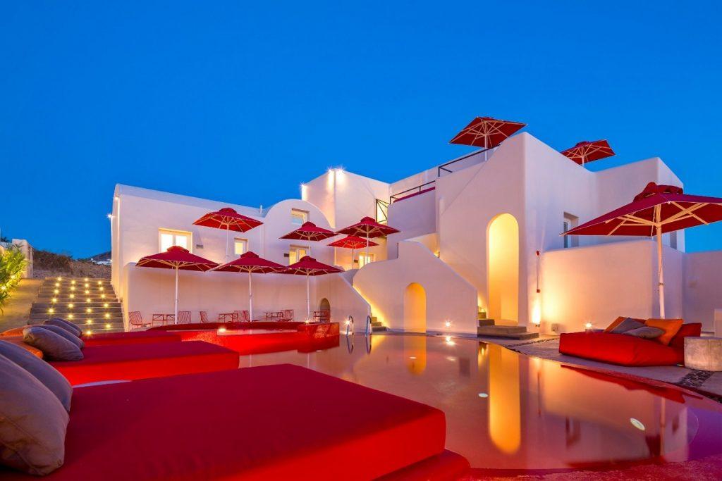 The Art Hotel on Santorini.