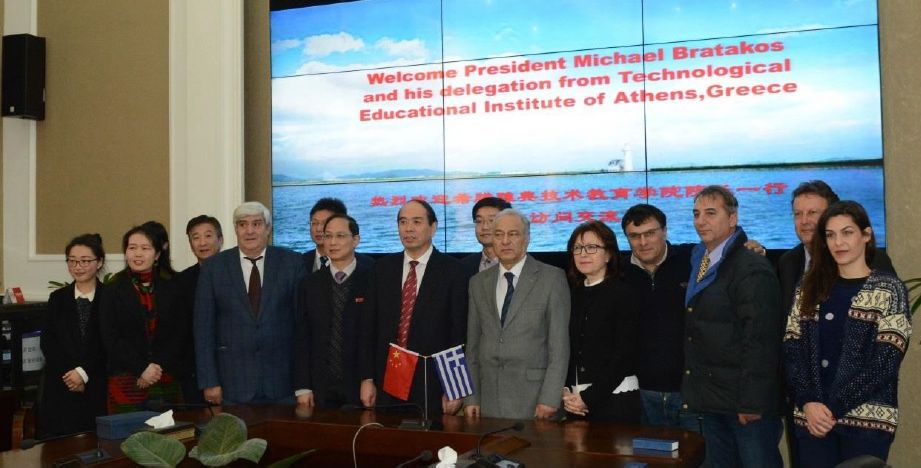 Athens TEI and Zhejiang Ocean University delegates.