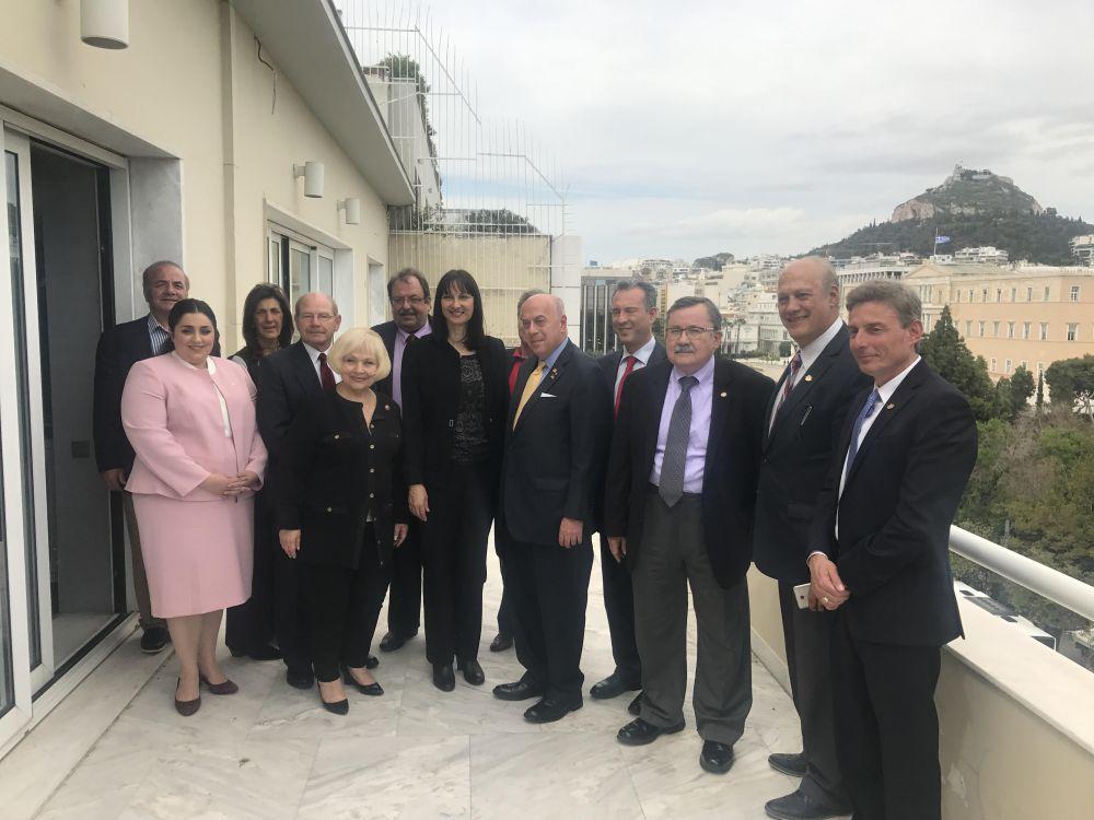 Tourism Minister Elena Kountoura with AHEPA delegation.