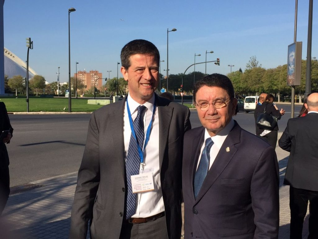 Greek Secretary General for Tourism Policy and Development Yiorgos Tziallas met with UNWTO Secretary General Taleb Rifai on the sidelines of the 7th UNWTO Silk Road Task Force Meeting in Valencia and discussed issues of cooperation between the organization and the tourism ministry.