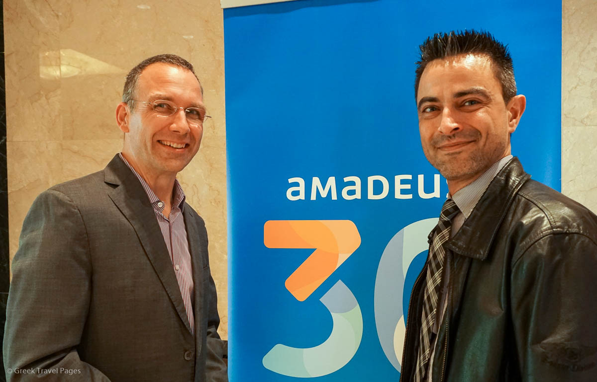 Amadeus IT Group's VP Northern, Eastern, Central & Southern Europe (NECSE), Joost Schuring and GTP's Managing Editor, Nikos Krinis.